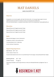 Resume 2017 Examples Best Resume Samples Of Pertaining To College