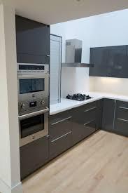 Plain Modern Kitchen Cabinets Ikea In Abstrakt Gray Modernkitchen With Design Decorating