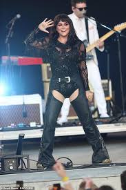 Newly Brunette Kesha Dons Black Leather Chaps To Perform At