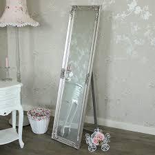 silver floor mirror. Exellent Silver Ornate Silver Floor Standing Mirror 41cm X 159cm On O