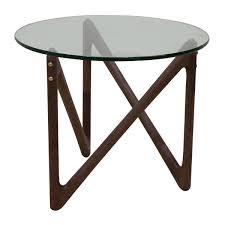 Organic Modern Furniture Organic Modernism Gigi End Table Walnut Modern Side Tables