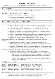 resume sample executive assistant best executive resume format