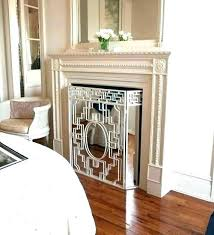 fireplace cover up coastal screen ideas faux with mirrored cool idea nice screens home depot stone brick doors insulation