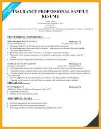 Insurance Agent Resume Sample From Insurance Agent Resume Examples