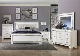 Lacks | Allura White 4-Pc Twin Bedroom Set