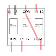 triple light switch wiring diagram triple image 2 gang 1 way switch wiring diagram wiring diagram schematics on triple light switch wiring diagram
