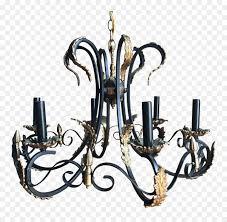 Kronleuchter Schmiedeeisen Beleuchtung Kerze Eisen Png