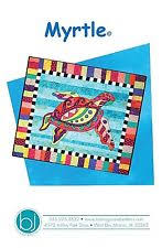 Turtle Quilt Pattern | eBay & MYRTLE THE SEA TURTLE QUILT PATTERN, A Fun Applique Wall Quilt From BJ  Designs Adamdwight.com