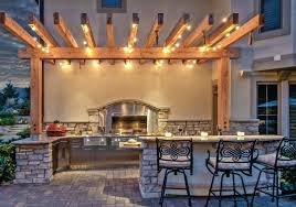 Outdoor Kitchen Lighting An Uncommon Outdoor Kitchen Hearth Home Magazine