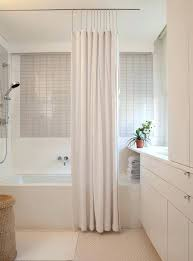 modern shower curtain rod curved target