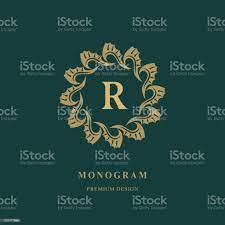 Desain Logo Seni Huruf Kapital R Lambang Bulat Elegan Monogram Kreatif Yang  Indah Tanda Anggun Untuk Royalty Kartu Nama Undangan Klub Yoga Boutique  Restaurant Ilustrasi Vektor Ilustrasi Stok - Unduh Gambar Sekarang -