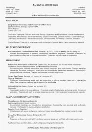 18 High School Resume For College Application Sample New Best