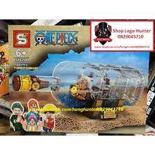 Lego One Piece Bộ lắp ráp Thuyền Thousand Sunny trưng bày trong chai thủy  tinh SY 6294
