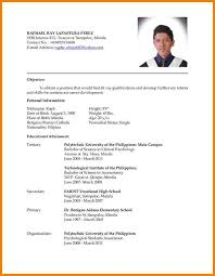 Criminology Resume Template Best of Beautiful Resume Sample Objectives For Ojt In Beautiful Sample