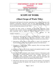 sample scope of work 31 printable sample scope of work forms and templates fillable