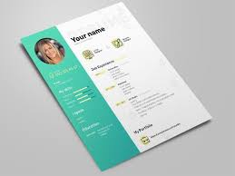 Free Elegant Photoshop Resume Template With Clean Design By