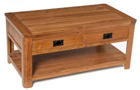 london rustic oak coffee table with drawers