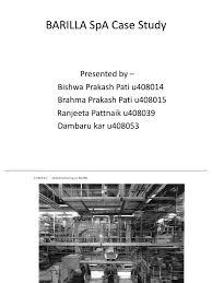 barilla spa barilla spa case analysis barilla spa overview of the barilla spa case study