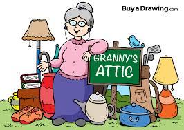 Attic drawing Cobweb 3ddruckerkaufeninfo Cartoon Granny Attic And Yard Sale Drawing For Church Flyer
