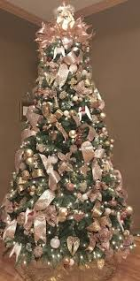 Exclusive Design Rose Gold Christmas Tree Artificial Mini Skirt Ornaments
