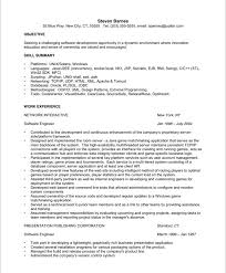 Software Engineer Resume Objective Steven Barnes Resume Sample