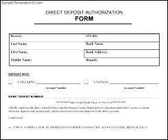 Direct Deposit Form Template Direct Deposit Form Template Word Readleaf Document