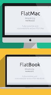 mockup templates psd designs css author imac macbook psd flat mockup