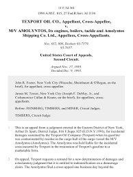 Texport Oil Co Cross Appellee V M V Amolyntos Its Engines