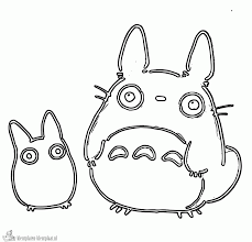 Totoro Coloring Pages My Neighbor Sketch Page Home 1000960