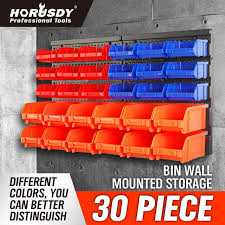 storage bin organizer. Unique Bin Wall Mounted Storage Bins Parts Rack 30 Bin Organizer Garage Plastic Shop  Tool And