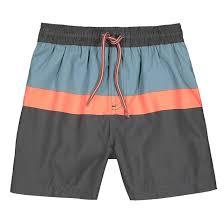 <b>Шорты пляжные в</b> полоску, 3-12 лет синий/зеленый/оранжевый ...