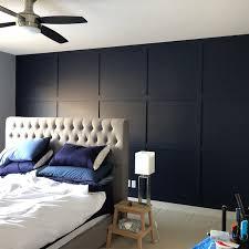 master bedroom diy millwork feature