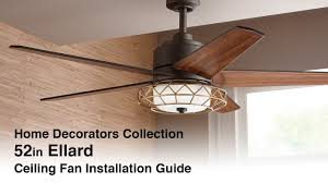 how to install the ellard ceiling fan youtube
