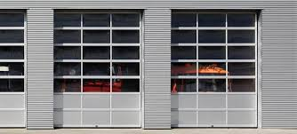 Contemporary Aluminum Clear Tempered Glass Garage Door Lux
