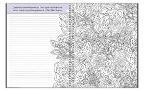 amazon coloring journal an coloring journal with inspirational es spiral bound 6 25 x 9 toys games