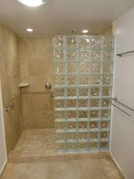 showers glass shower blocks walk in with block build throughout remodel 7