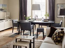 dining room sets ikea: dining room sets ikea oval table contemporary pendant lighting sillver chromed metal frame dark wood floors chandelier dark brown wooden square tall table