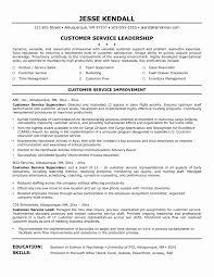 Sample Resume Of A Customer Service Supervisor Valid Customer