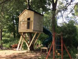 Simple Tree Fort Tree House Base One Tree Treehouse Plans Build Your