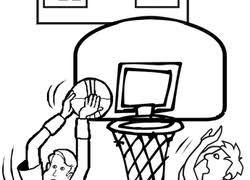 Small Picture Basketball Coloring Pages Printables Educationcom