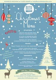 Christmas Lunch Menu Born In The Borders Shop