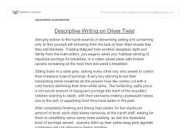 descriptive writing on oliver twist gcse english marked by  document image preview