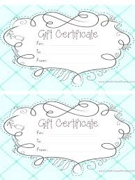 printable gift certificate template fancy templates