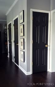 FOCAL POINT STYLING: Painting Interior Doors Black & Updating .