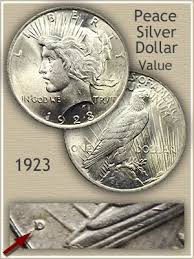 1922 Silver Dollar Value Chart 1923 Peace Silver Dollar Value Discover Their Worth
