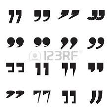 quotes marks collection of quotation marks speech marks quote sign icons