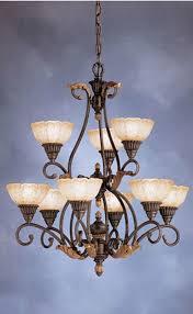kichler lighting chalfonte place 9 light antique le chandelier