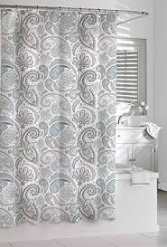 black and gray shower curtain. kassatex paisley shower curtain, blue/grey, 72 by 72-inch black and gray curtain