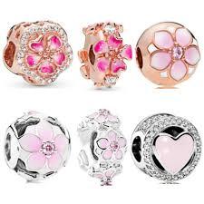 <b>AIFEILI New</b> Rose Gold Pink Magnolia Bloom Bead Fit Original ...