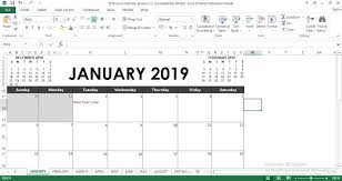 Free Excell Calendar 2019 Excel Calendar Template Engineering Management